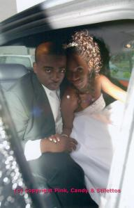 Bride and Groom take a ride