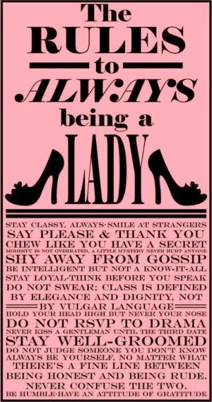 ladylike rules pink