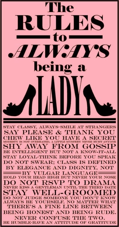 ladylike rules pink